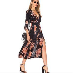 Free People Floral Miranda Slitted Midi Dress
